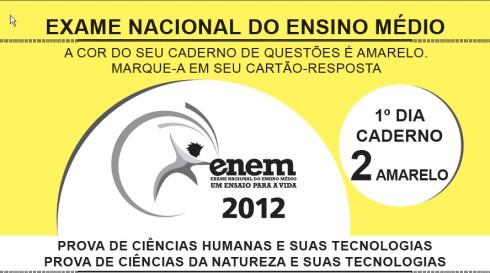 ENEM 2012_1º DIA